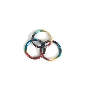 Moodtherapy Jewelry - 3 Pack Rainbow Colored Nose Ring Cartilage Hoop